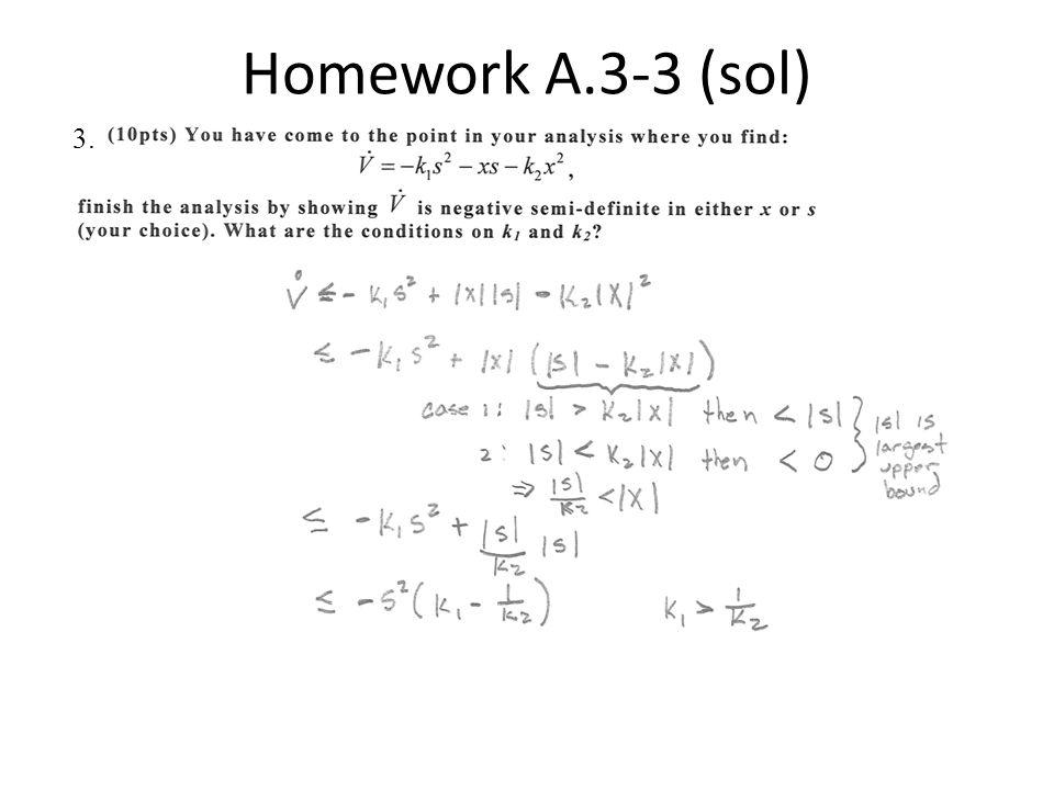 Homework A.3-3 (sol) 3.