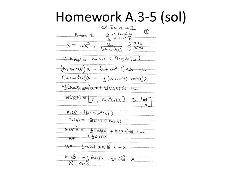 Homework A.3-5 (sol)