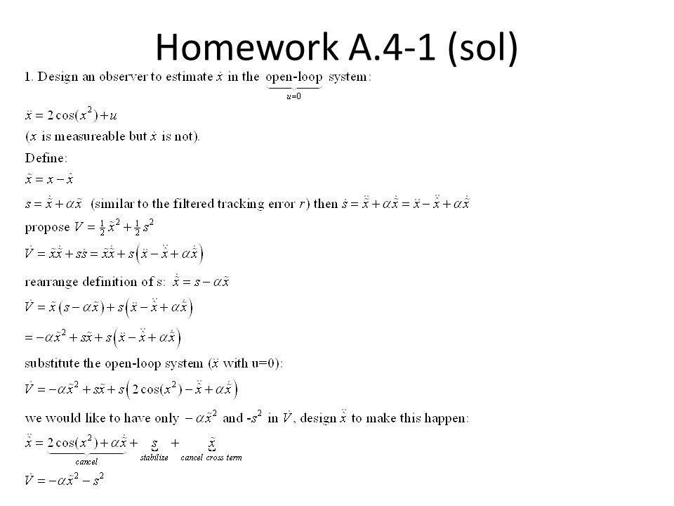 Homework A.4-1 (sol)