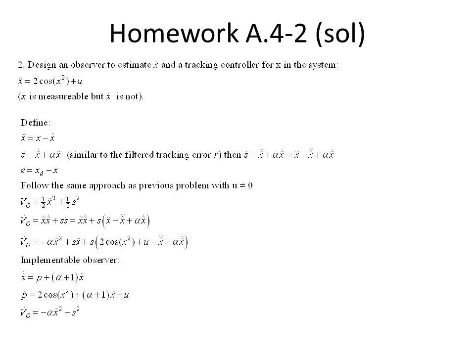 Homework A.4-2 (sol)