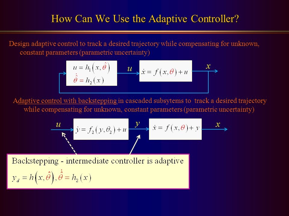 How Can We Use the Adaptive Controller.