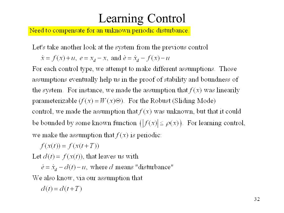 32 Learning Control