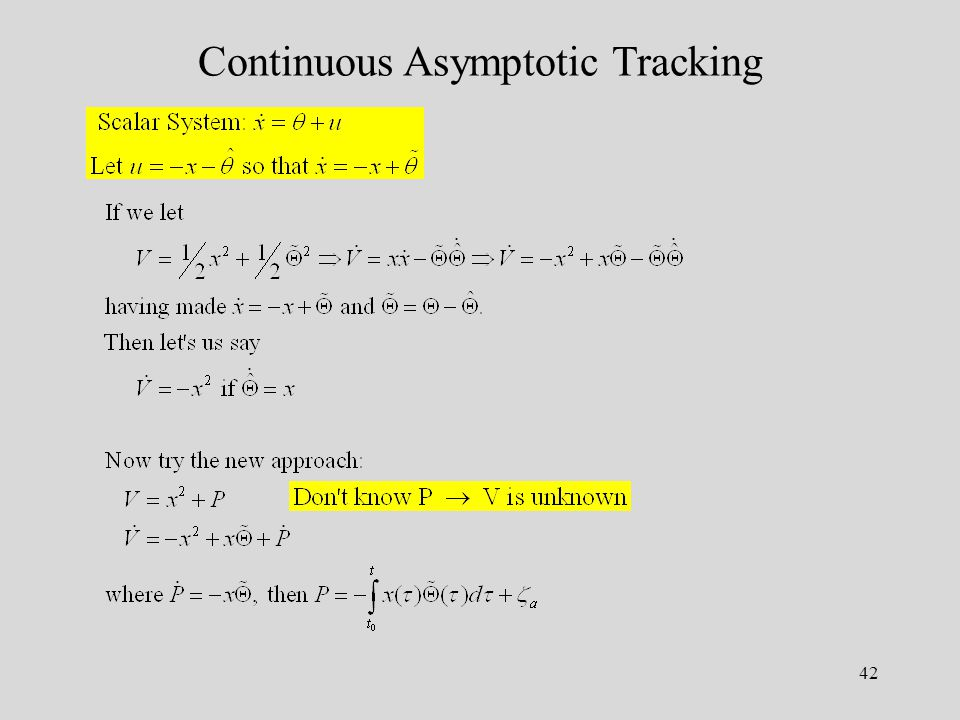 42 Continuous Asymptotic Tracking