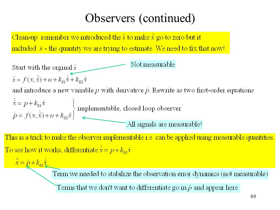 69 Observers (continued)