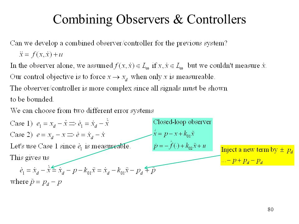 80 Combining Observers & Controllers