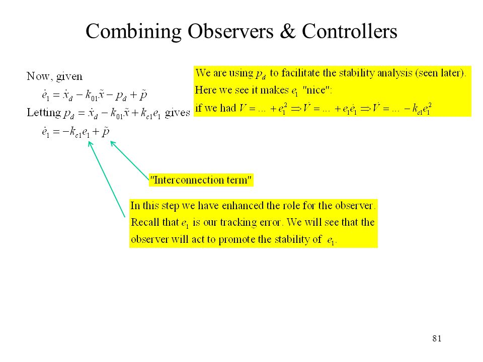 81 Combining Observers & Controllers