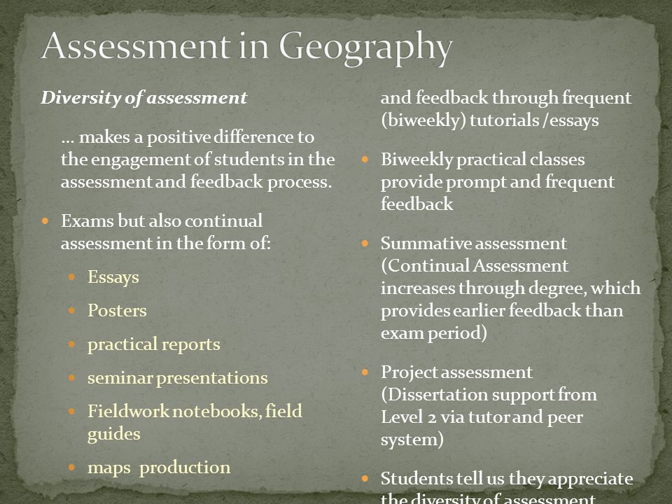 I like the assessment, the presentation was a good experience Take the use of presentations into other modules, even instead of exams.