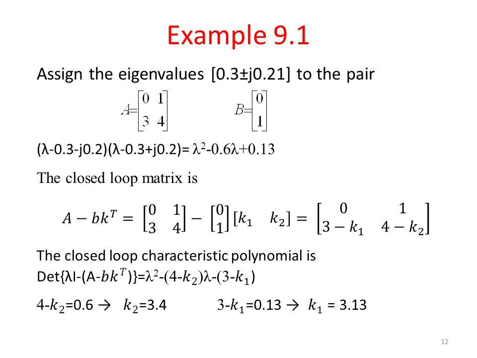 Example 9.1 12
