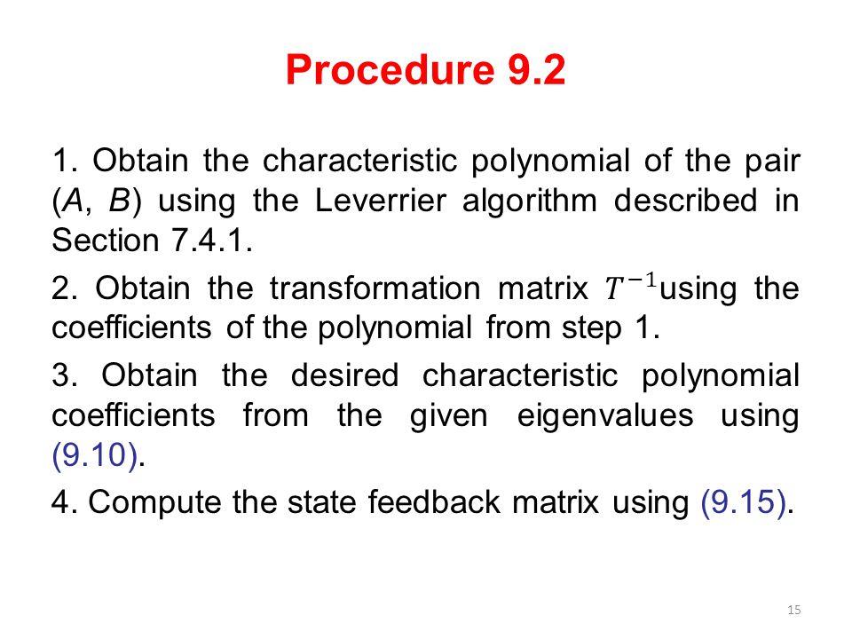 Procedure 9.2 15