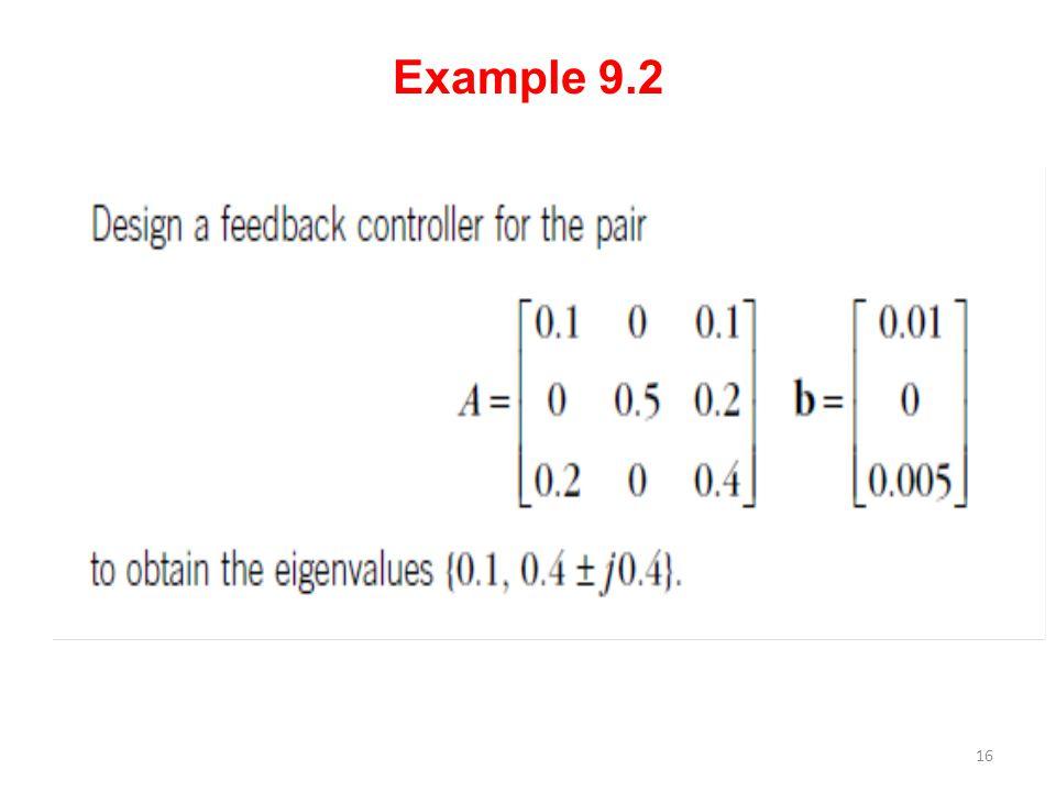 Example 9.2 16