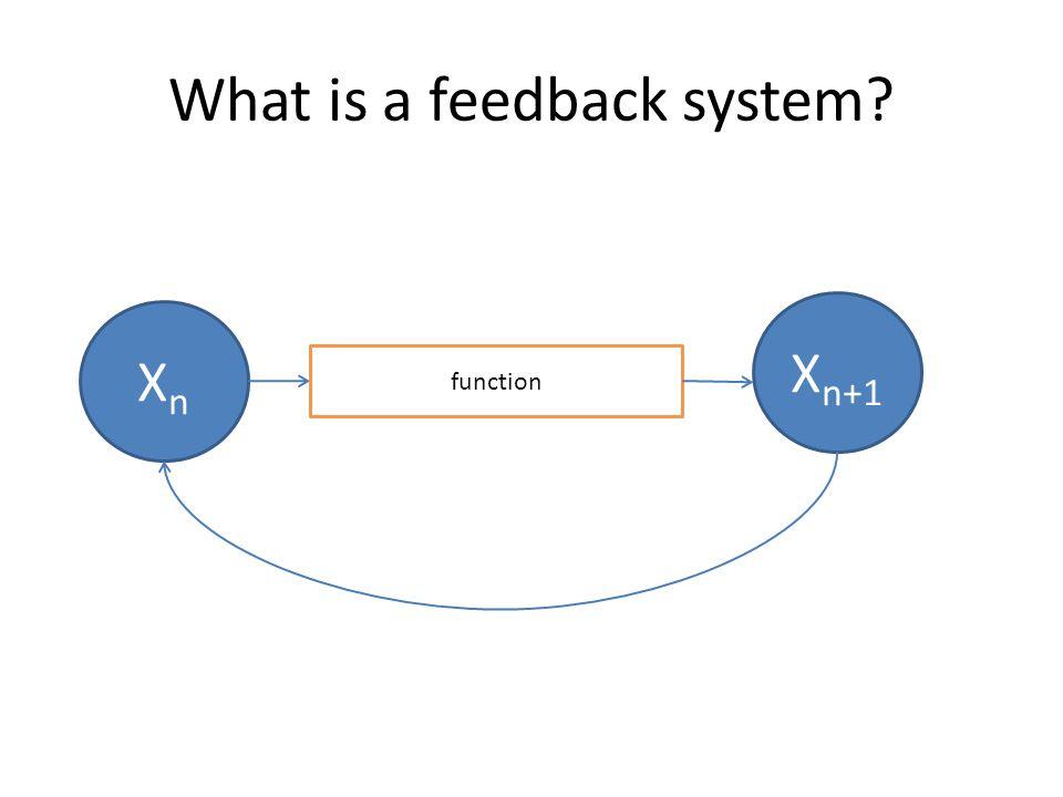 What is a feedback system? XnXn function X n+1