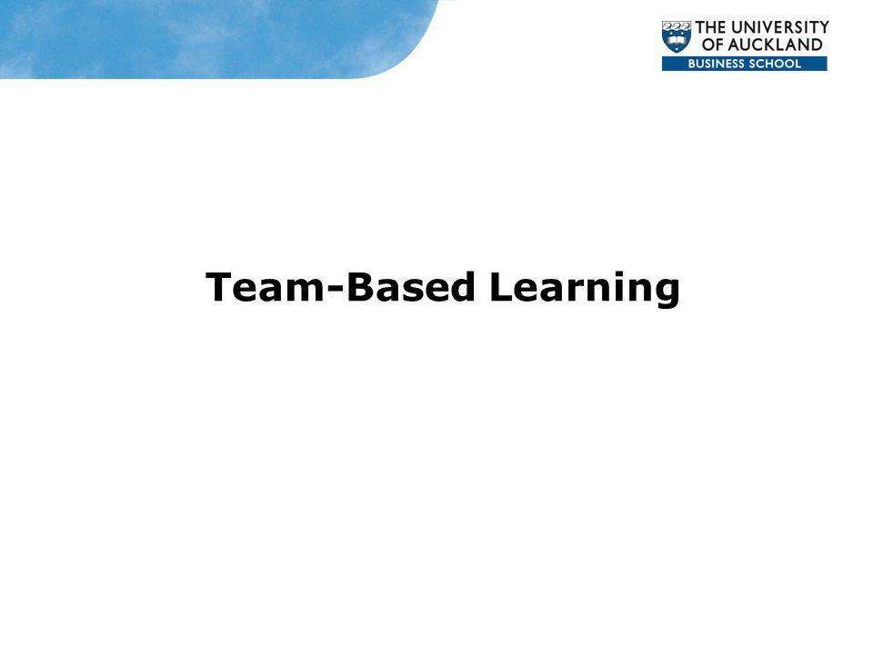 Team-Based Learning