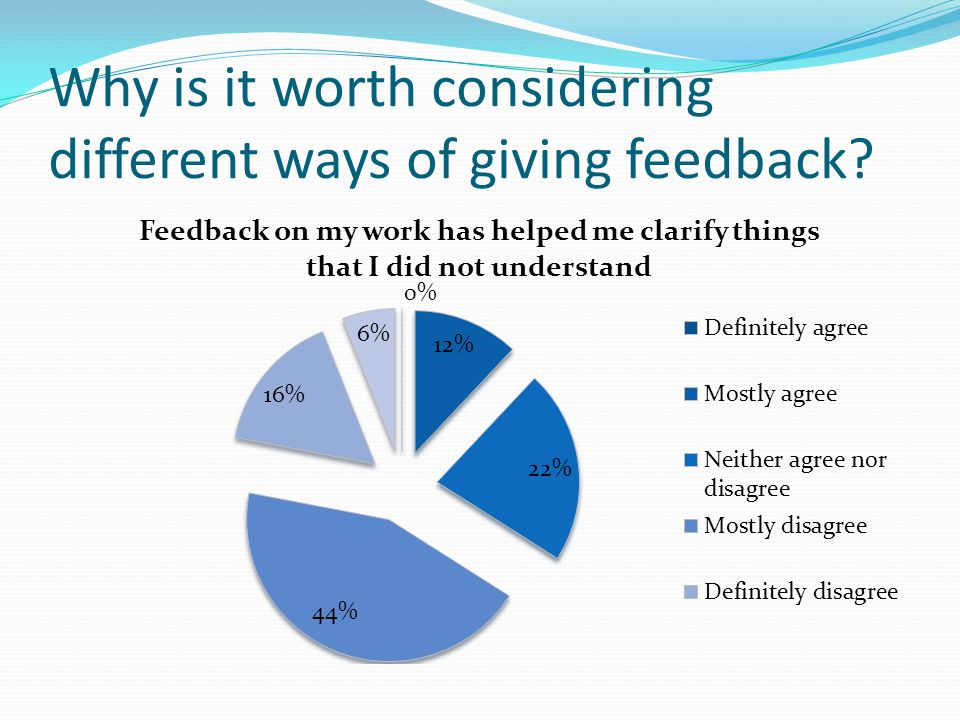 Why is it worth considering different ways of giving feedback