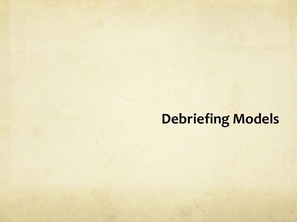 Debriefing Models