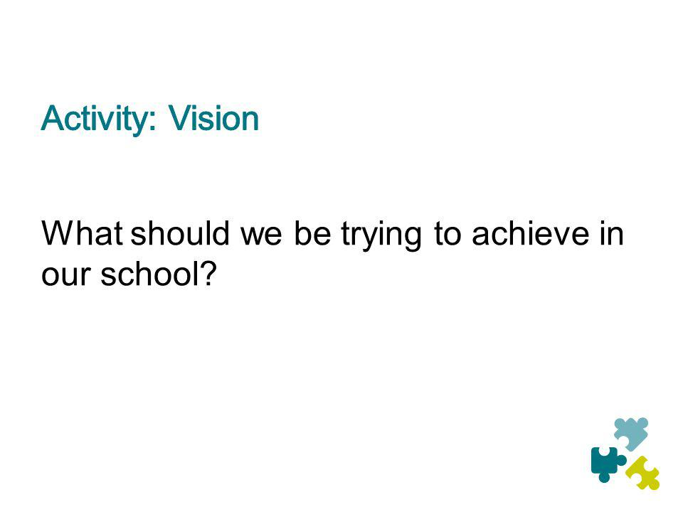 What should we be trying to achieve in our school?