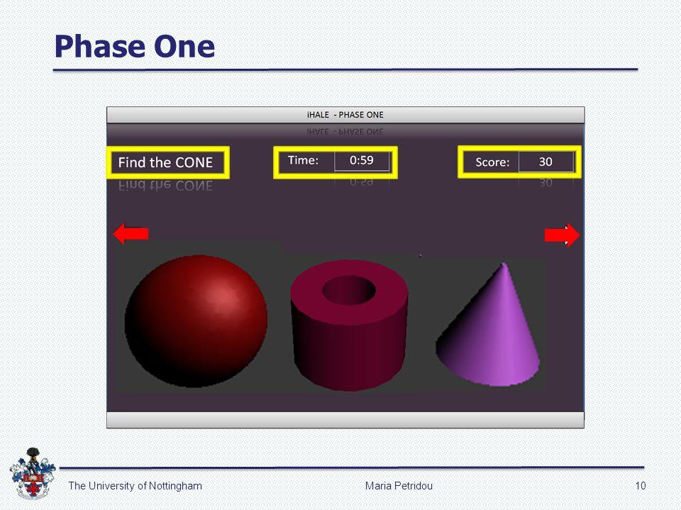 Phase One Maria Petridou10The University of Nottingham