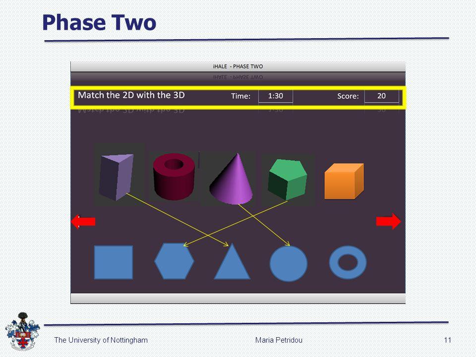 Phase Two Maria Petridou11The University of Nottingham