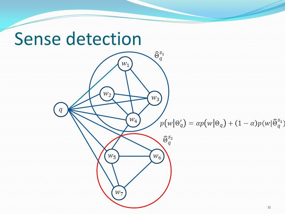 Sense detection 11
