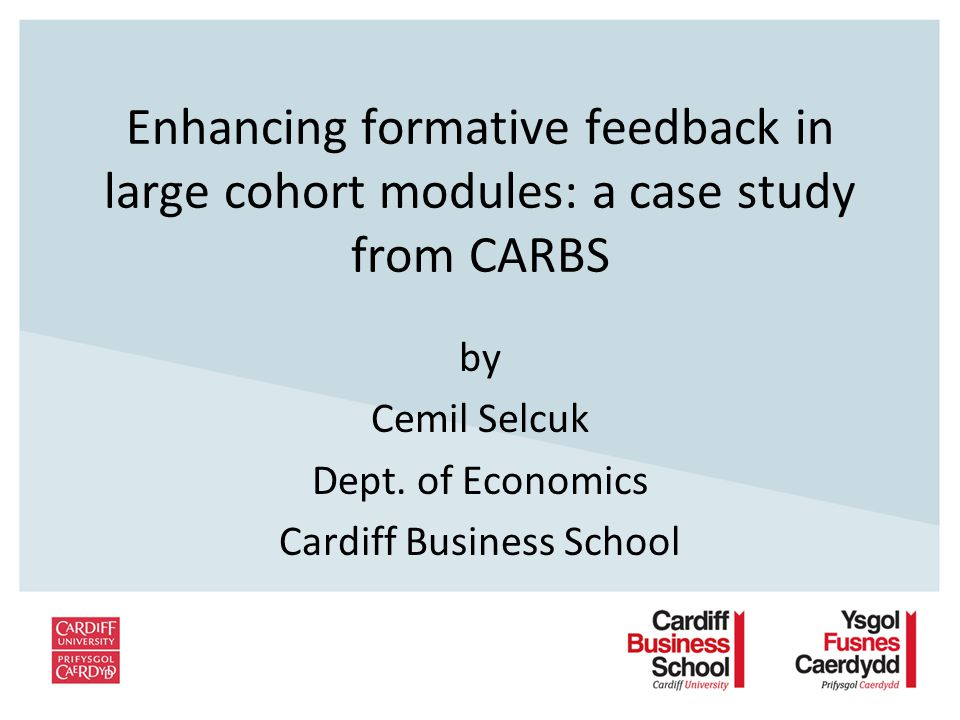 Enhancing formative feedback in large cohort modules: a case study from CARBS by Cemil Selcuk Dept.