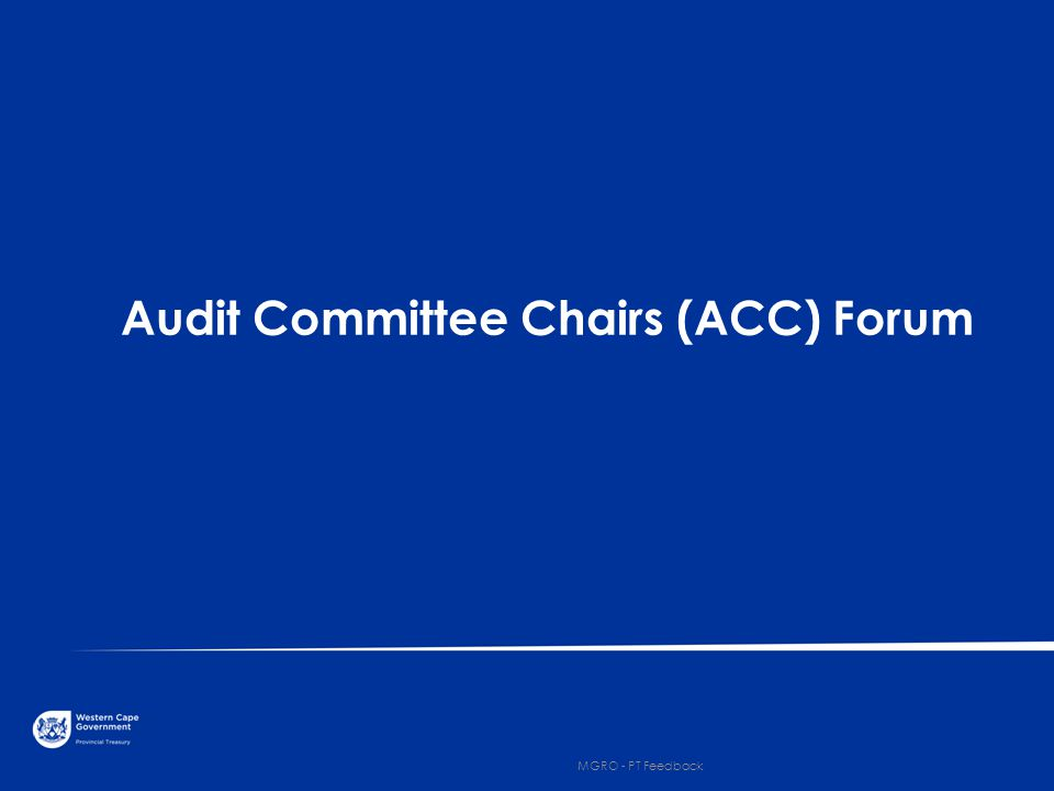 Audit Committee Chairs (ACC) Forum 7 MGRO - PT Feedback
