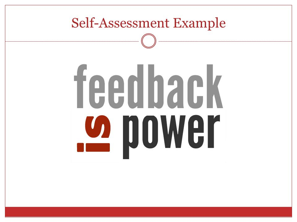 Self-Assessment Example