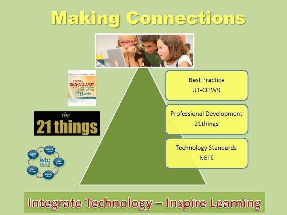 Making Connections Best Practice UT-CITW9 Professional Development 21things Technology Standards NETS