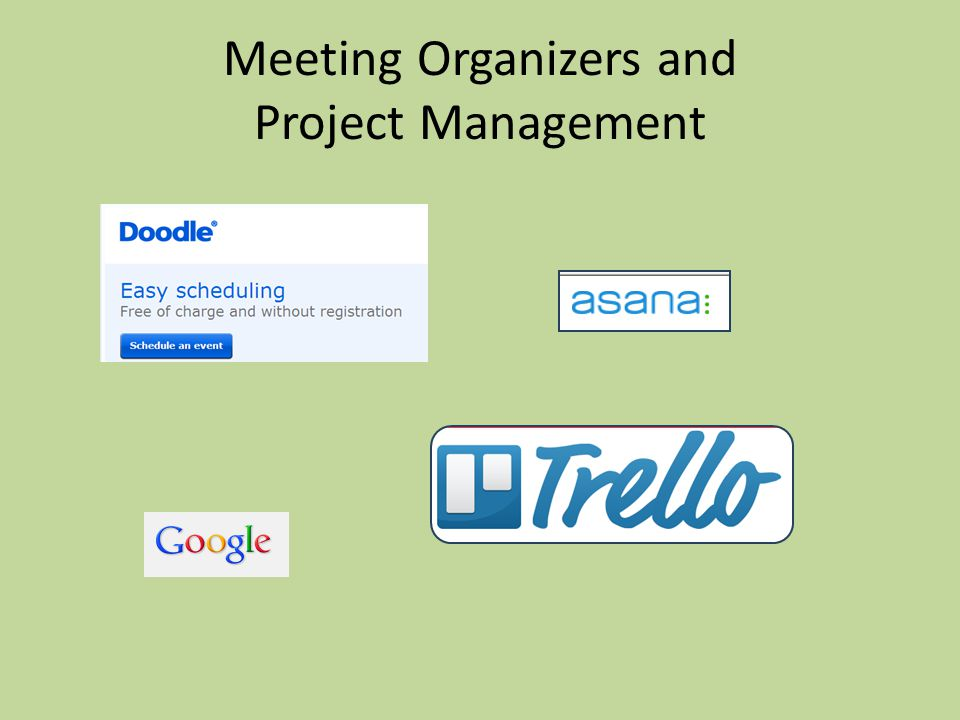 Meeting Organizers and Project Management