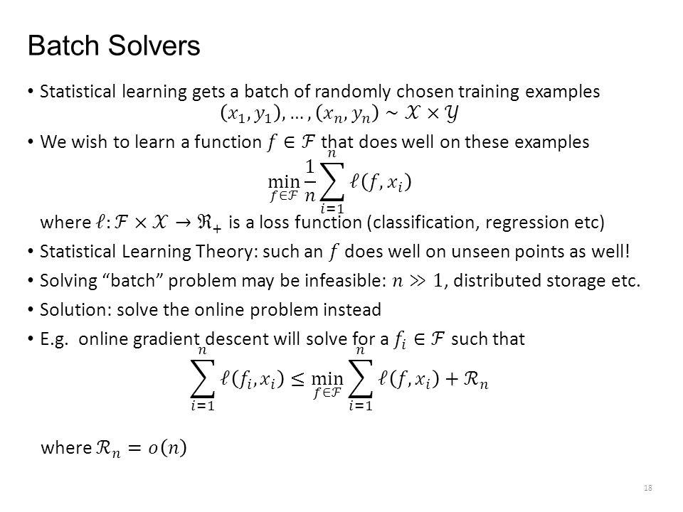 Batch Solvers 18