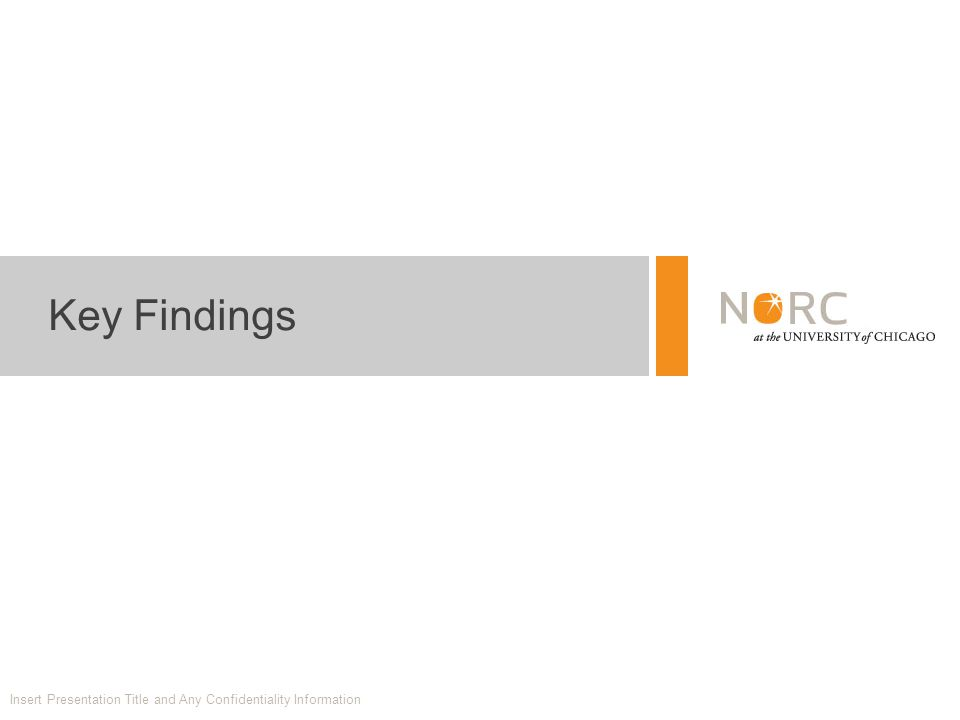 Key Findings Insert Presentation Title and Any Confidentiality Information