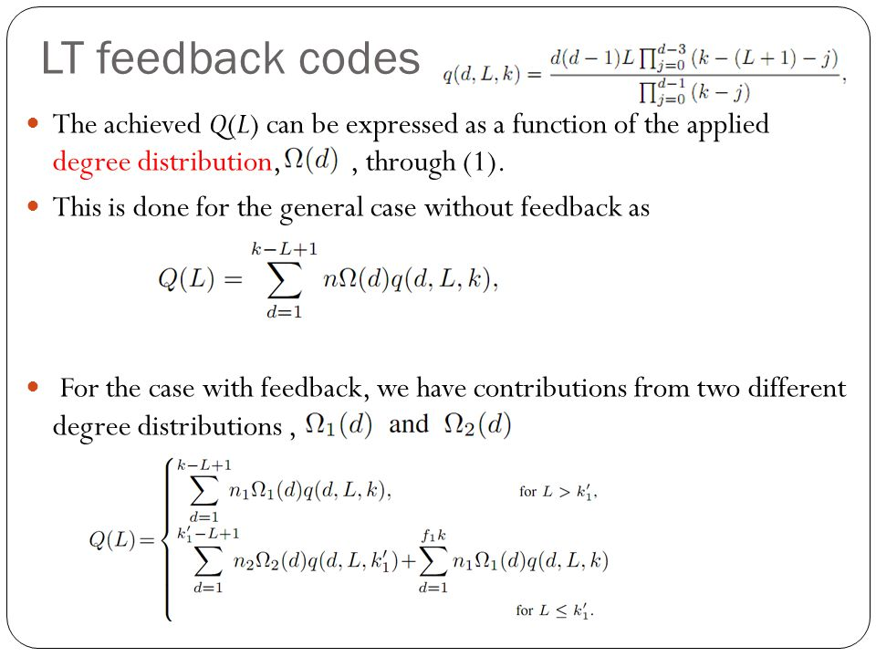 The achieved Q(L) can be expressed as a function of the applied degree distribution,, through (1).