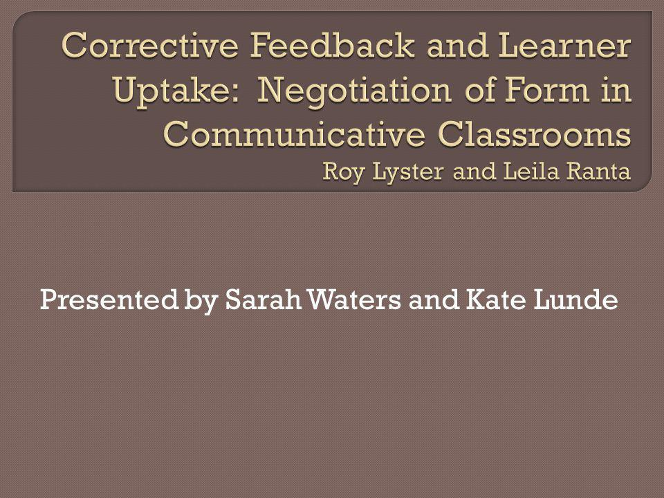 Presented by Sarah Waters and Kate Lunde