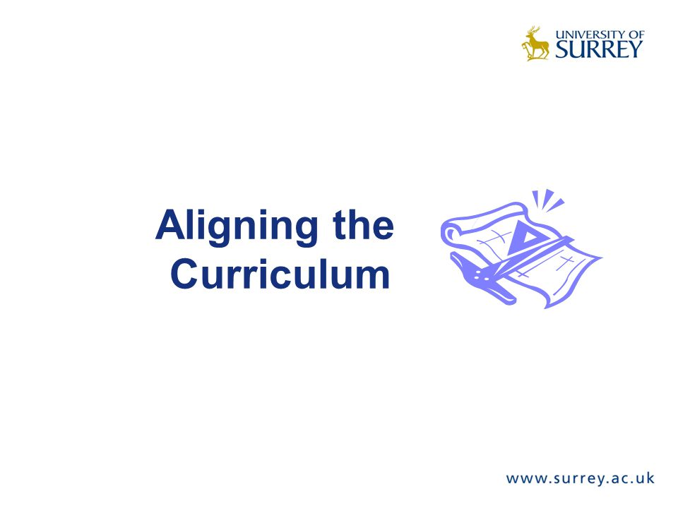 Aligning the Curriculum