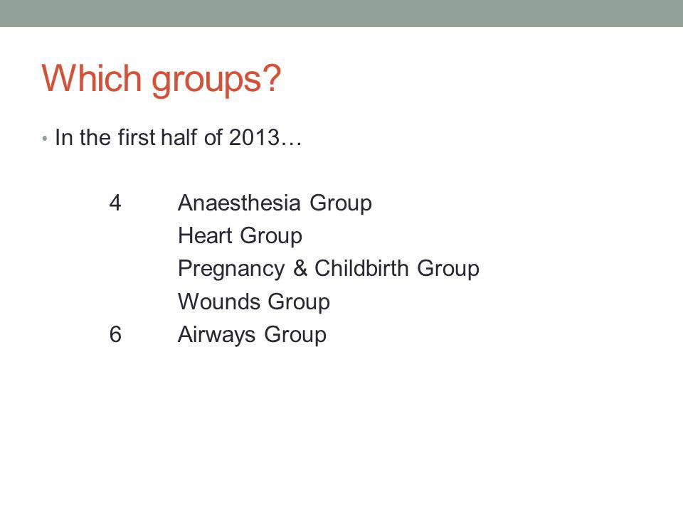 Which groups.