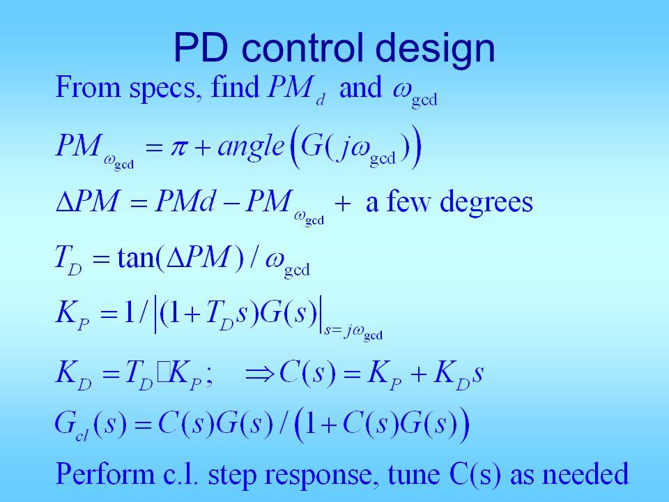PD control design