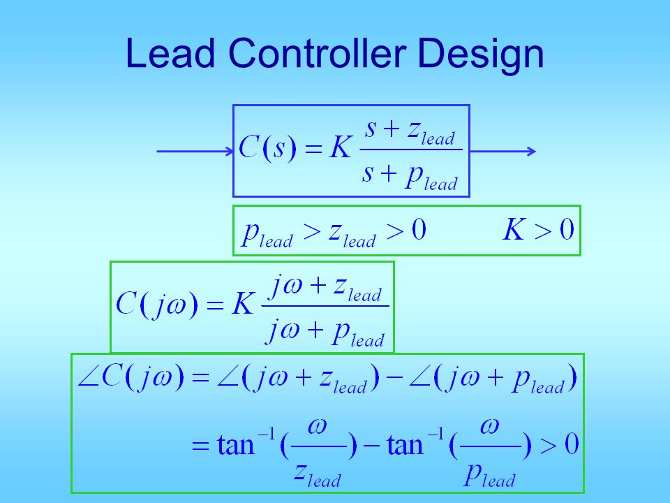 Lead Controller Design