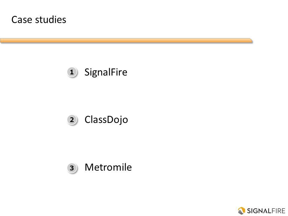 Case studies SignalFire ClassDojo Metromile 1 1 2 2 3 3