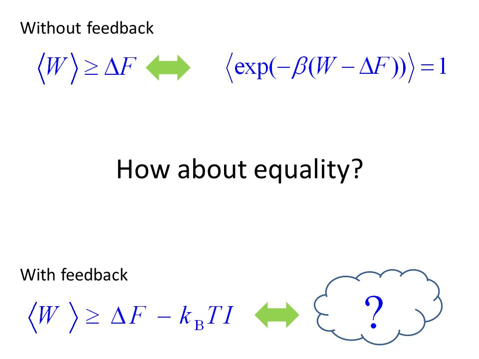 How about equality? Without feedback With feedback