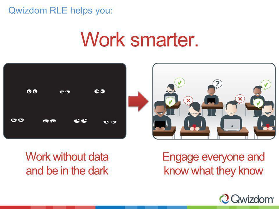 Work smarter.