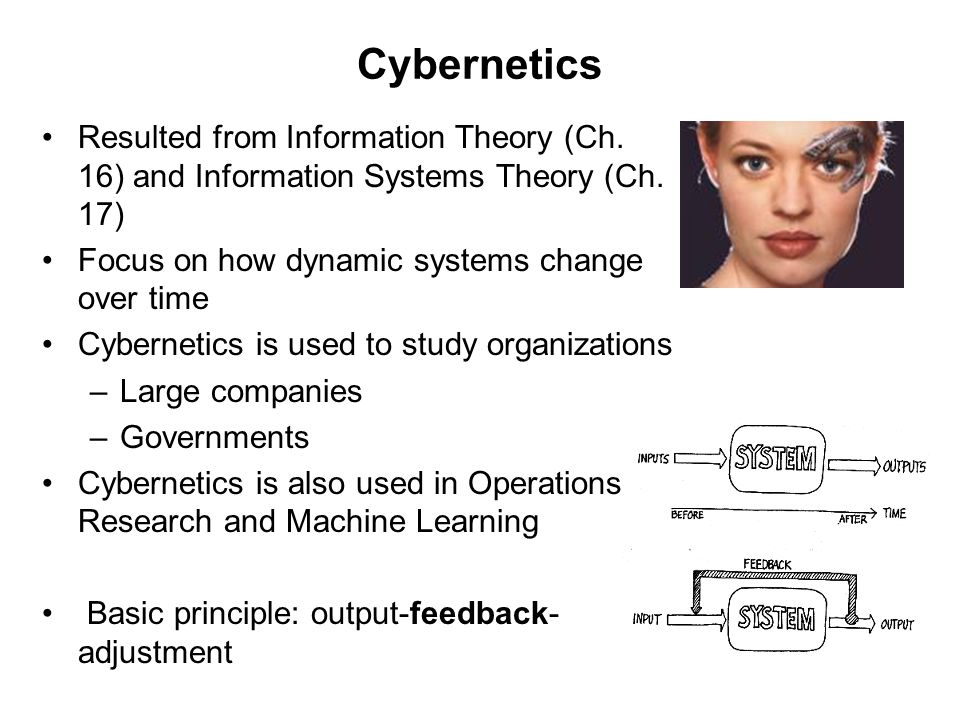 Elements of a Cybernetic System The feedback Loop Environment Comparator Sensor Activator AC-unit-in-a-room example Heater-unit-in-a-room example feedbackadjustment output