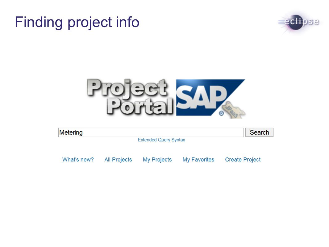Finding project info