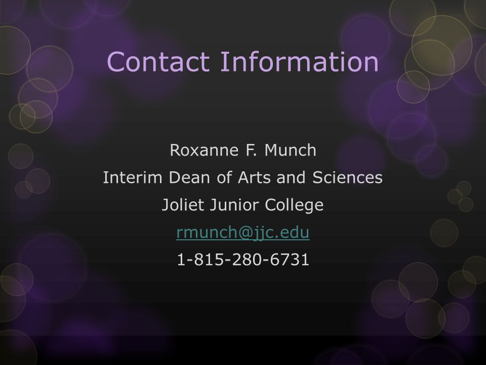 Contact Information Roxanne F.