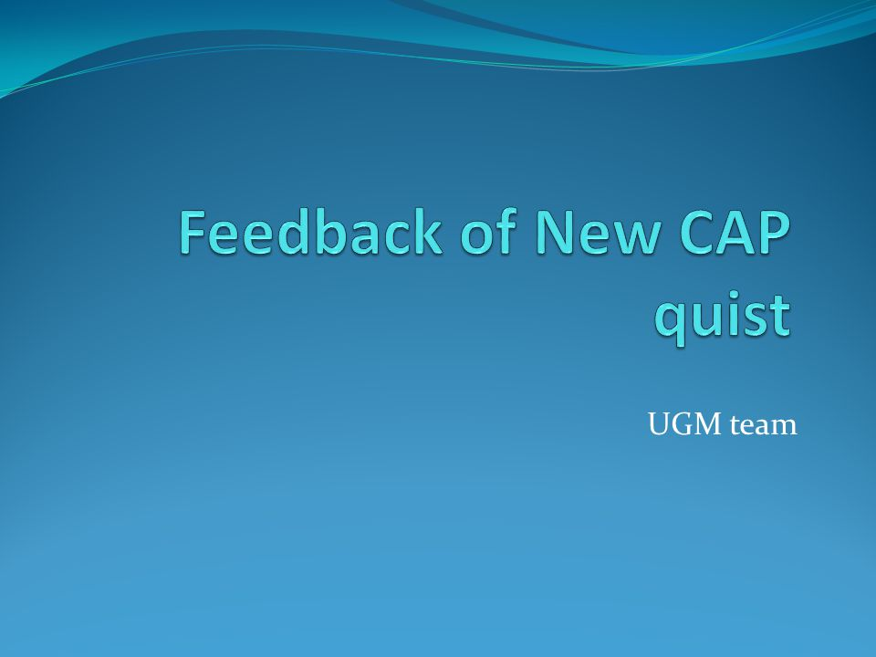Feedback on the new procedure: Is it more easy to organize the survey with the new procedure Information in Introduction is sufficient Could be self service survey on line The weakness is: we dont have the answer sheets Not all teacher familiar with on line survey