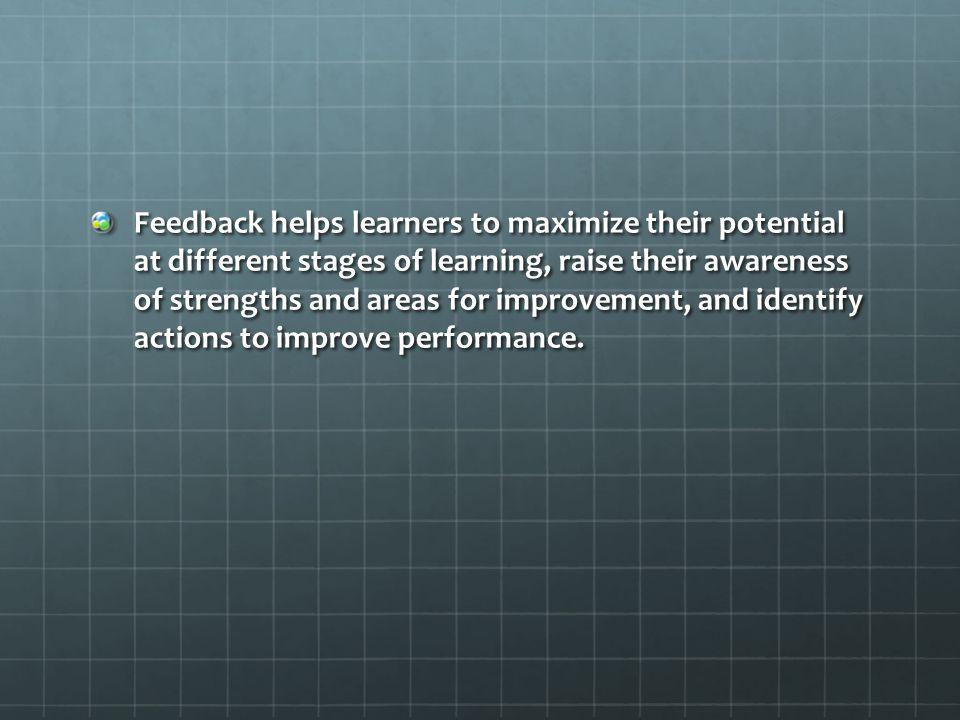 FEEDBACK A Focus on Physical Education