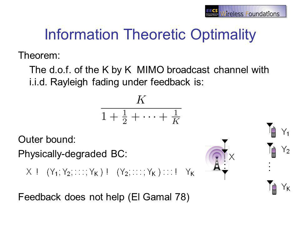 Information Theoretic Optimality Theorem: The d.o.f.