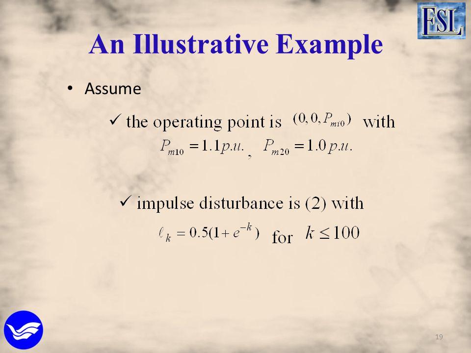 An Illustrative Example Assume 19