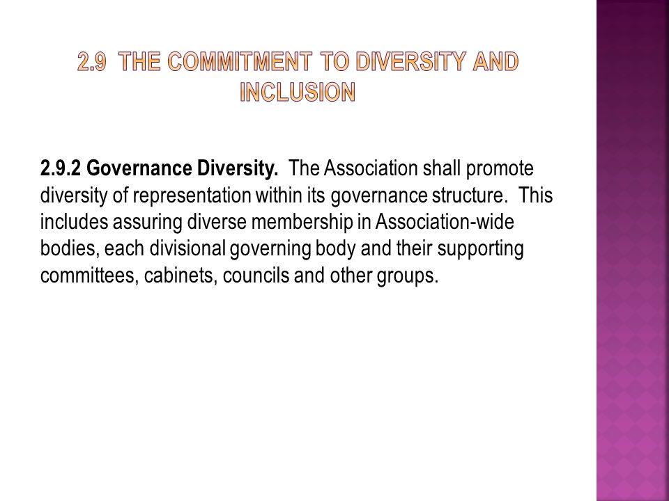 2.9.2 Governance Diversity.
