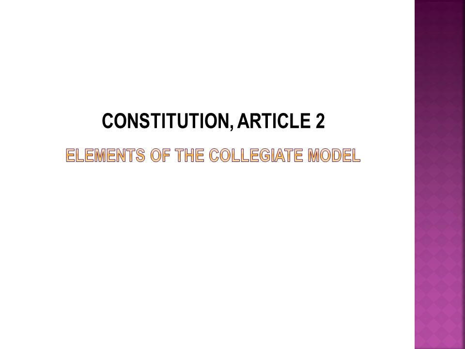 CONSTITUTION, ARTICLE 2