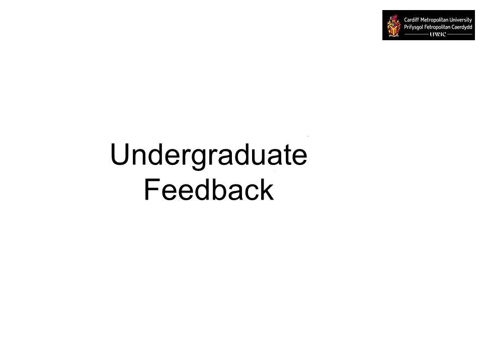 Undergraduate Feedback