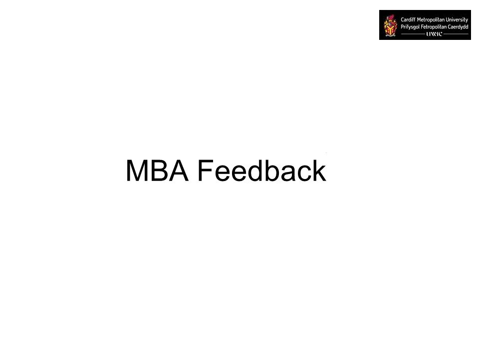 MBA Feedback