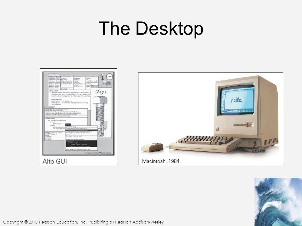 Copyright © 2013 Pearson Education, Inc. Publishing as Pearson Addison-Wesley The Desktop